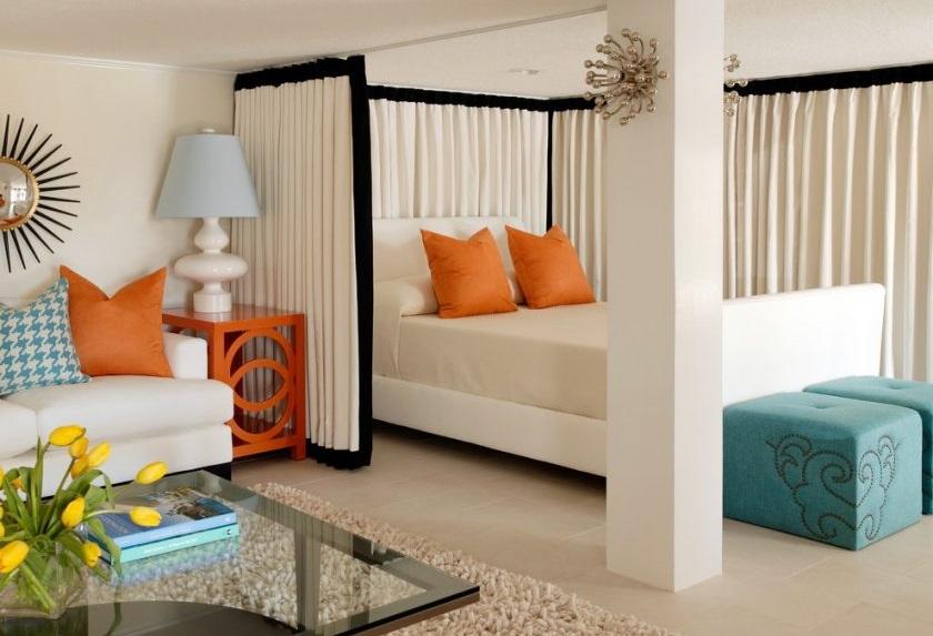 дизайн интерьера, объединение комнат