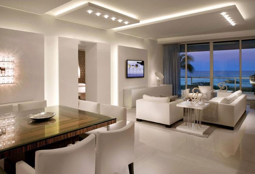 многоуровневое освещение в квартире